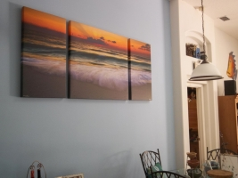 <h5>Coming Ashore 36x84 Custom Triptych</h5>