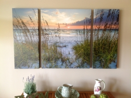 <h5>Sea Oat Song 36x60 Triptych</h5>