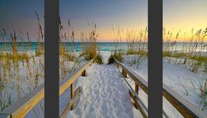 Barefoot Beach Triptych