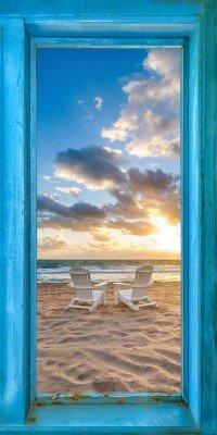 Window To The World White Chairs Vertical Panoramic Big
